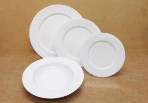 B1003 B1005 B1006 B1007 WIDE RIM PLATES BONE CHINA2
